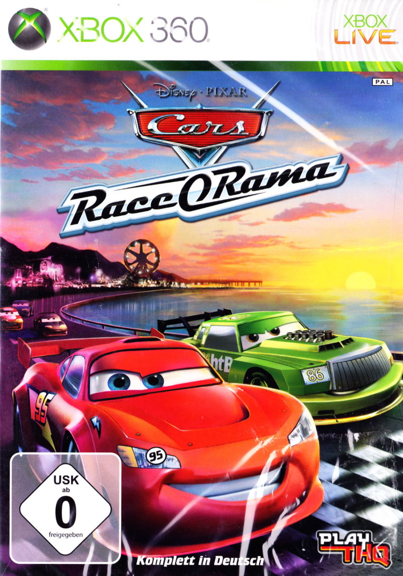 Disney•Pixar Cars: Race-O-Rama Xbox 360 Front Cover
