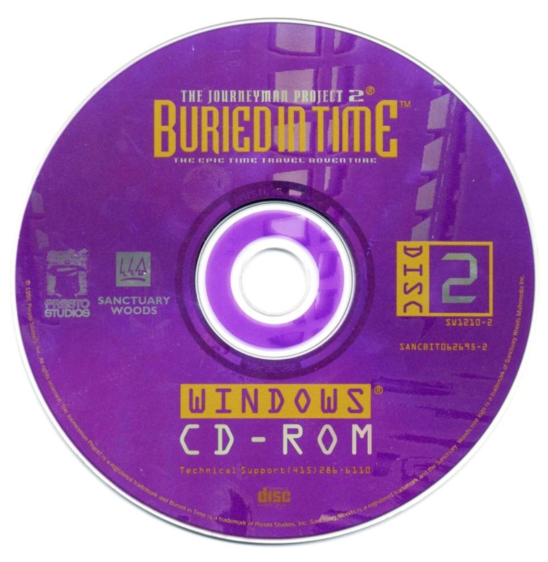 The Journeyman Project 2: Buried in Time Windows 3.x Media Disc 2