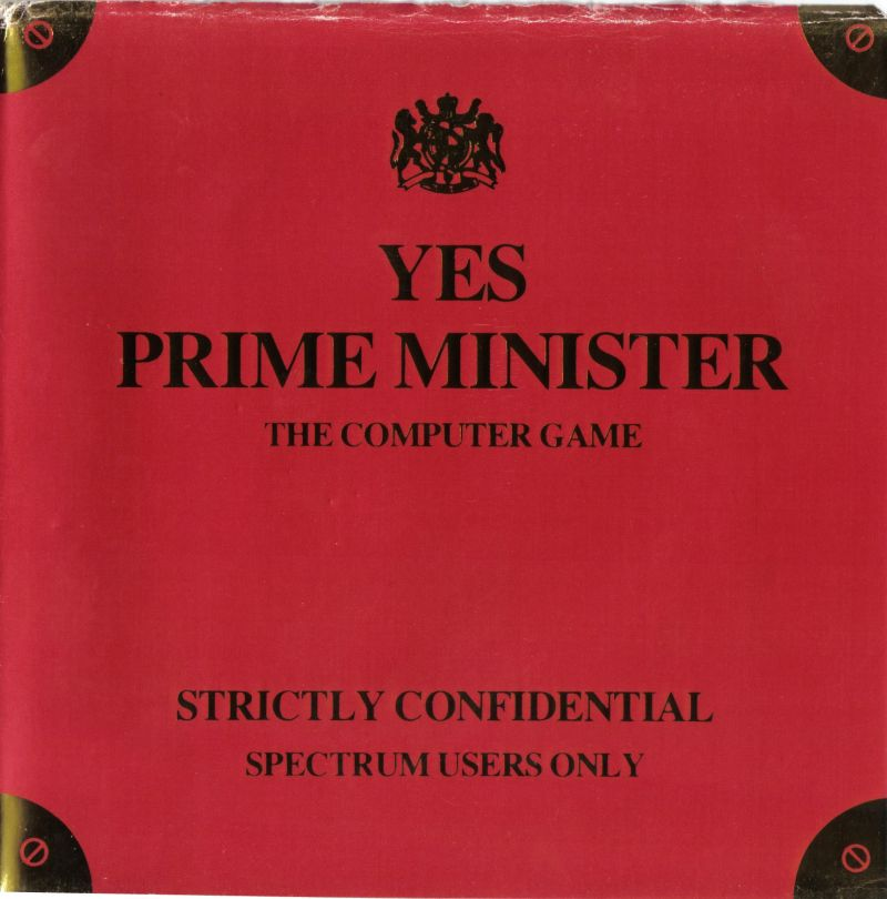 Yes Prime Minister ZX Spectrum Front Cover