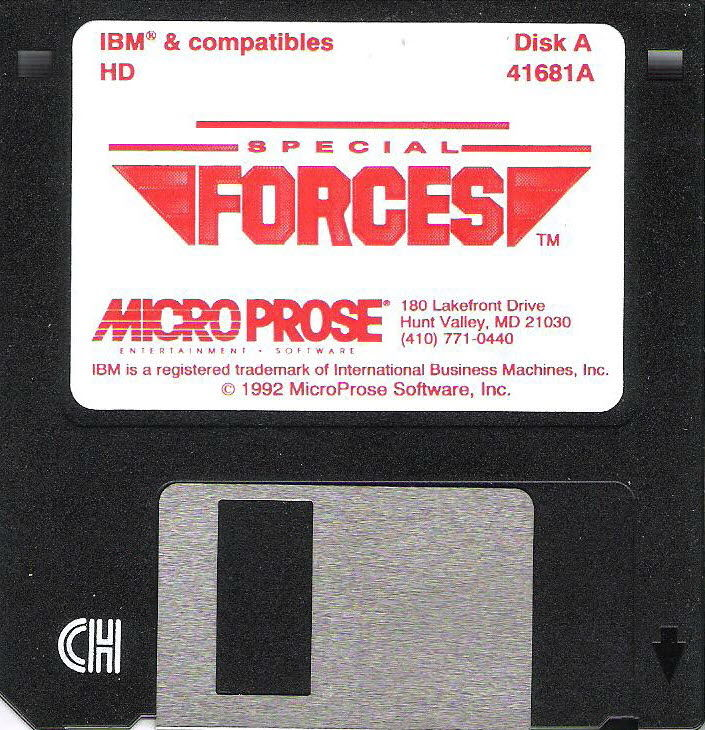 "Special Forces DOS Media 3.5"" Disk 1/2"