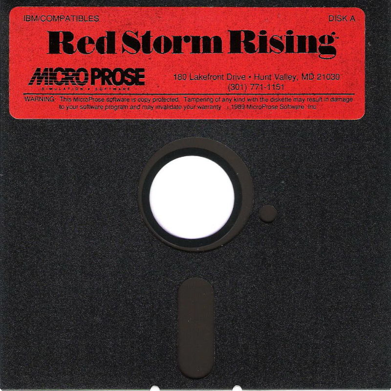 Red Storm Rising DOS Media Disk 1/2