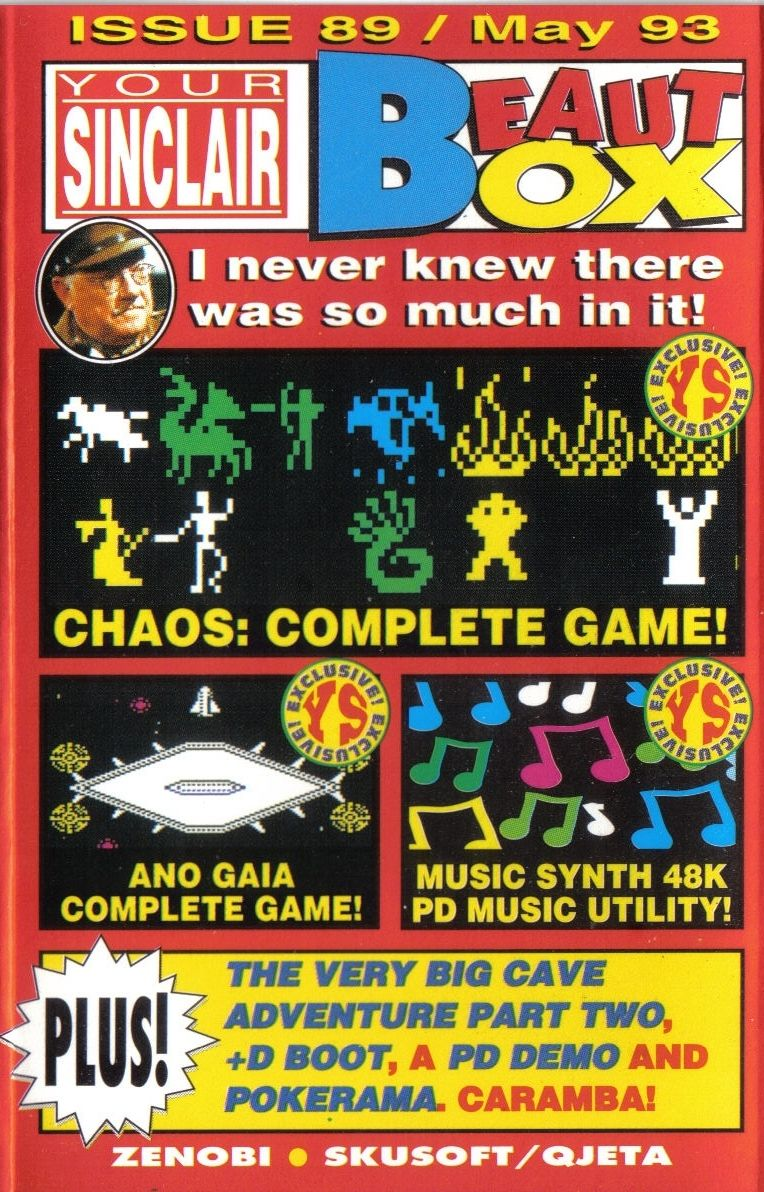 Chaos ZX Spectrum Front Cover