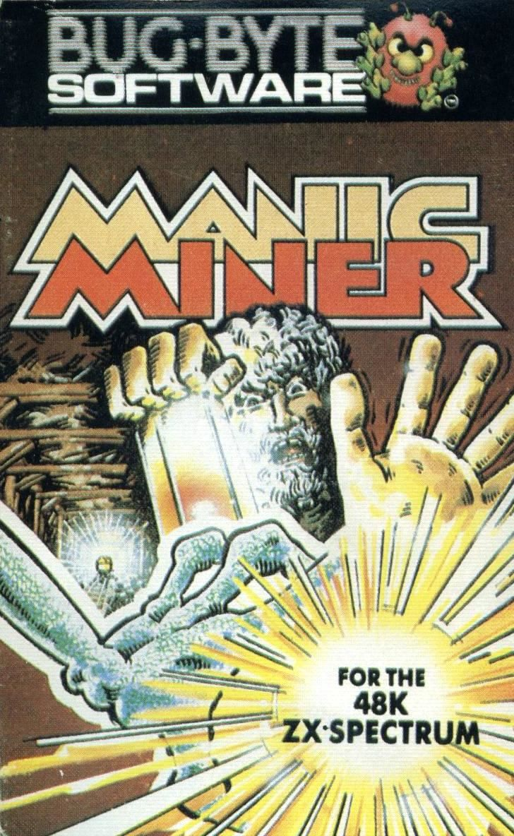 Manic Miner ZX Spectrum Front Cover