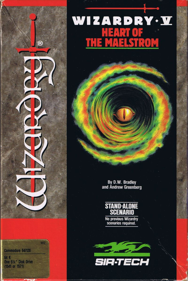 Wizardry V: Heart of the Maelstrom Commodore 64 Front Cover