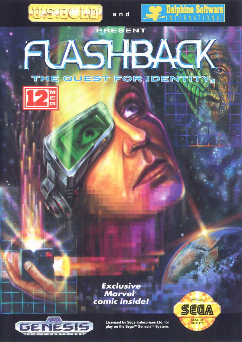 Flashback: The Quest for Identity Genesis Front Cover