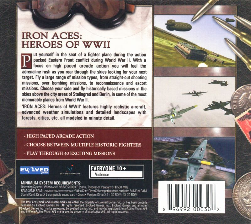Iron Aces: Heroes of WWII Windows Back Cover