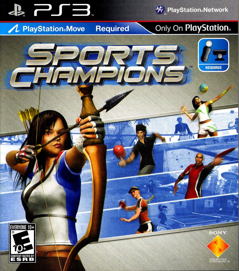Sports Games For Ps3 : Sports champions playstation box cover art