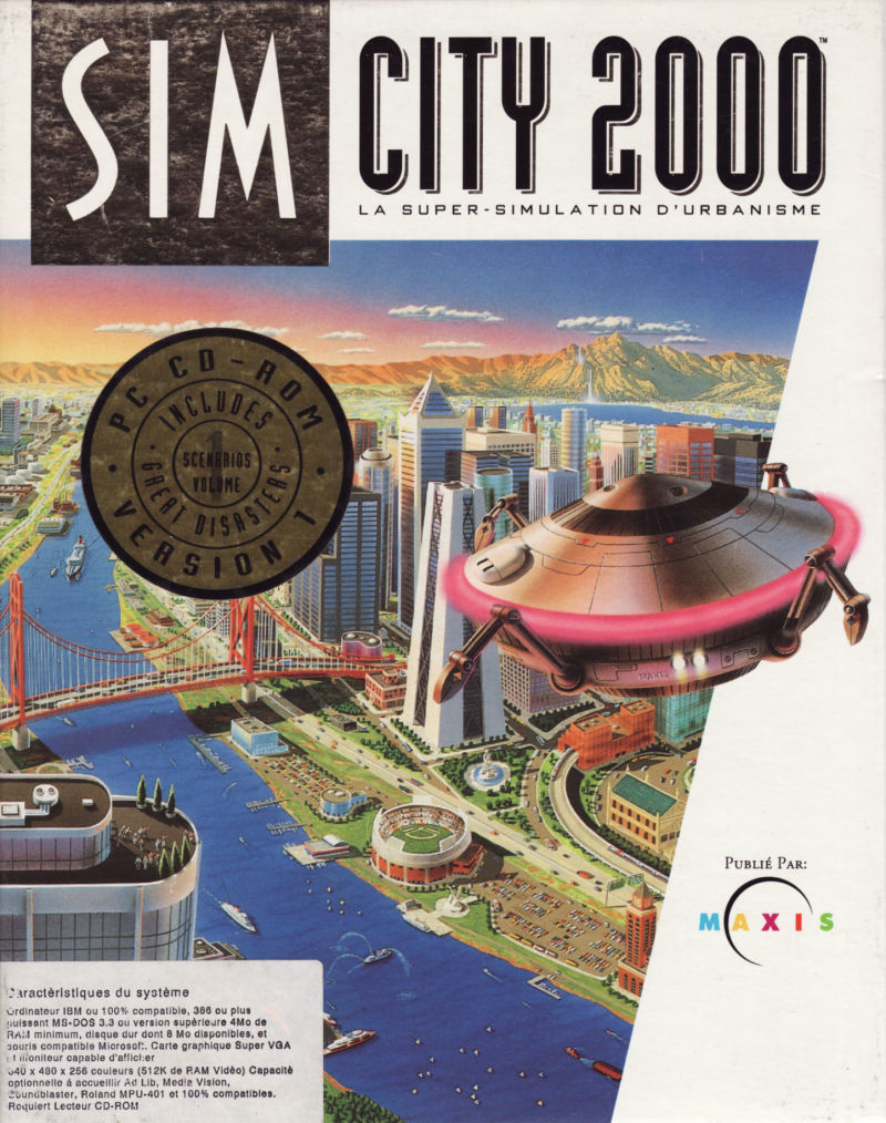 SimCity 2000: Includes Scenarios Volume 1 Great Disasters DOS Front Cover