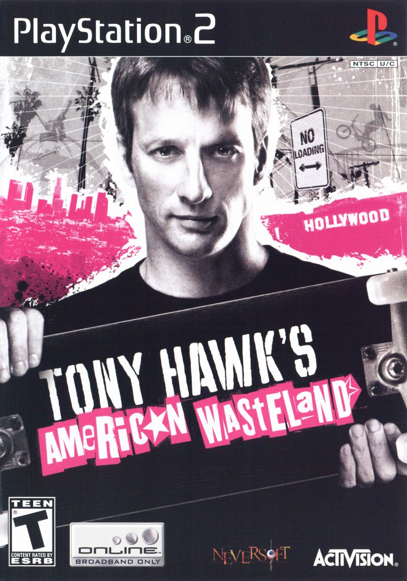 Tony Hawk's American Wasteland PlayStation 2 Front Cover