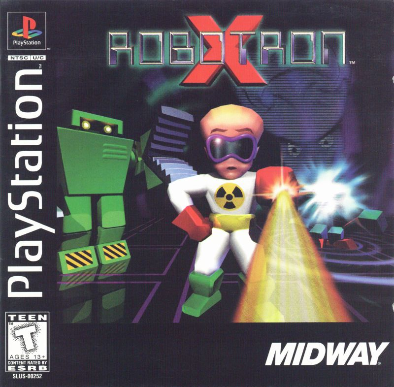 Robotron X PlayStation Front Cover
