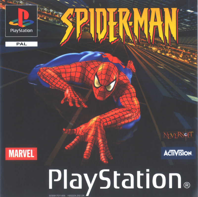 Spider-Man PlayStation Front Cover
