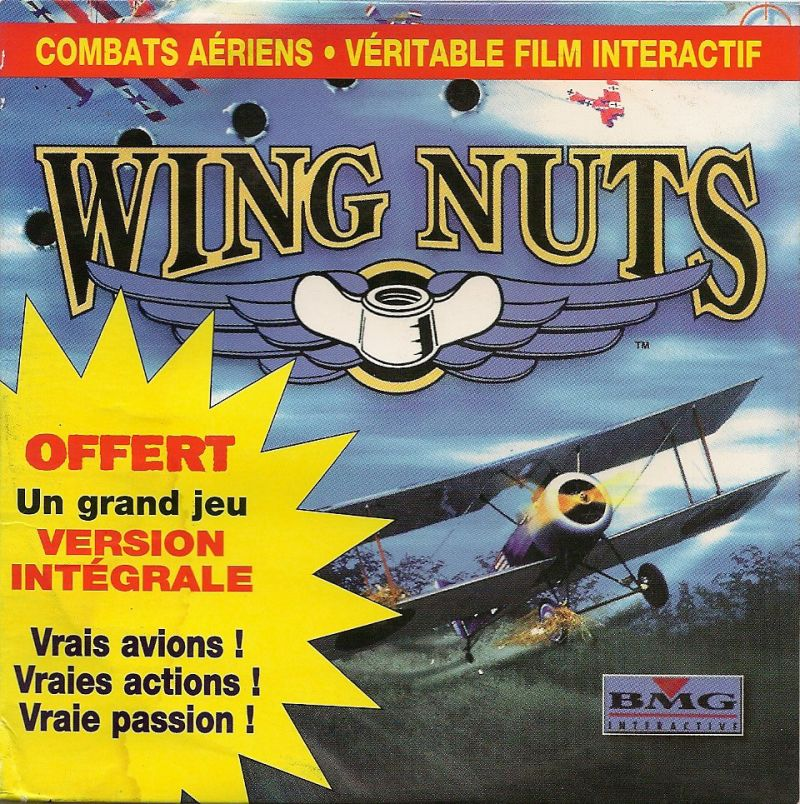 Wing Nuts: Battle in the Sky DOS Front Cover