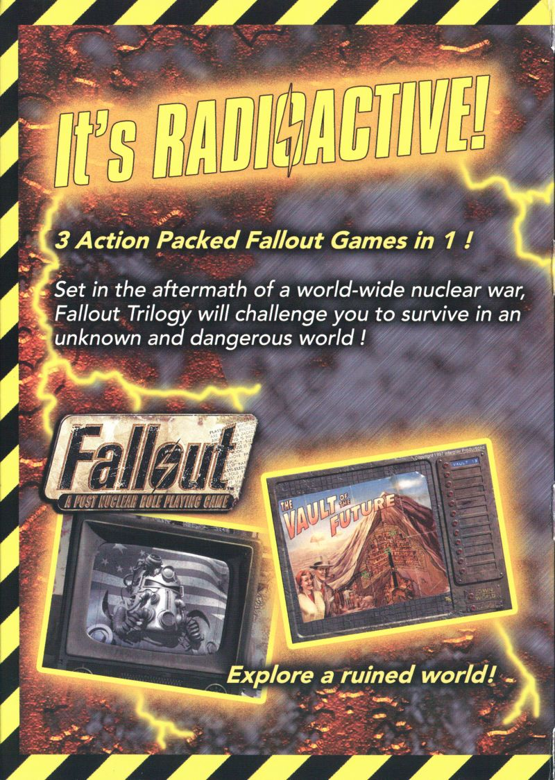 Fallout Trilogy Windows Inside Cover Left