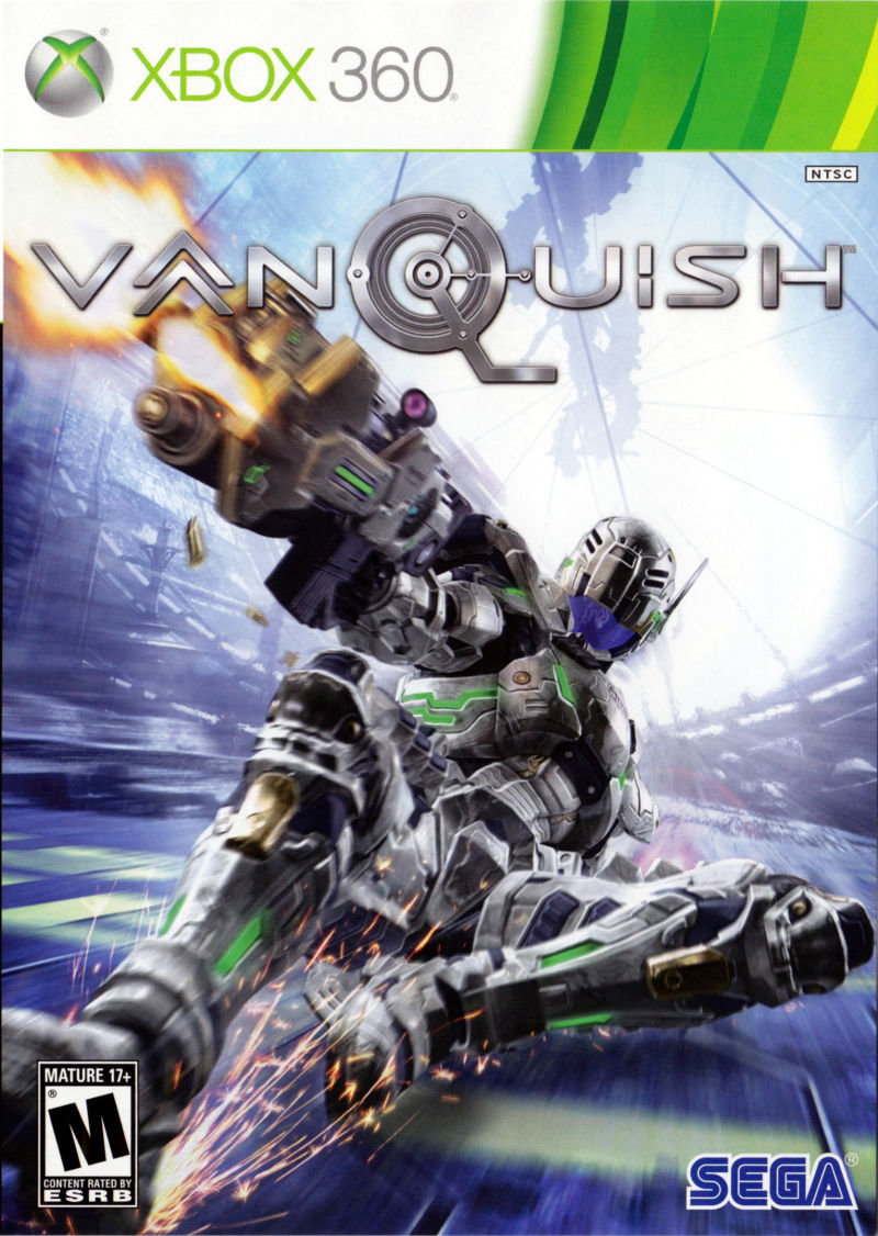 Vanquish Xbox 360 Front Cover