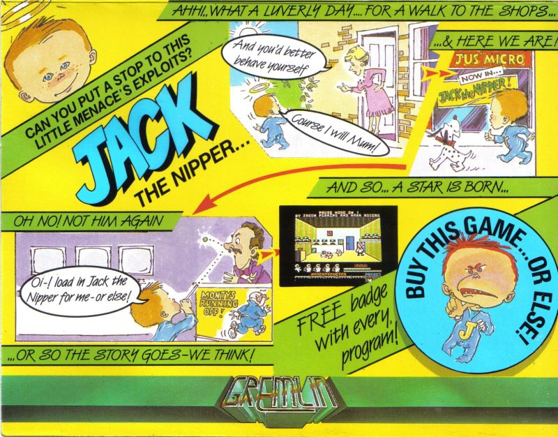 Jack the Nipper Commodore 64 Front Cover