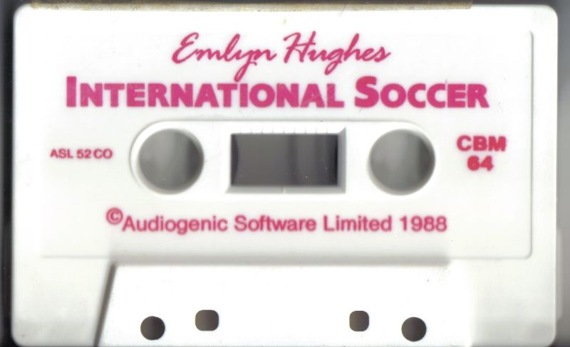 Emlyn Hughes International Soccer Commodore 64 Media