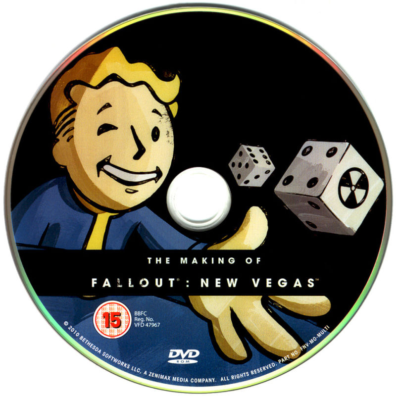 Fallout: New Vegas (Collector's Edition) Windows Media Making of Fallout: New Vegas Disc
