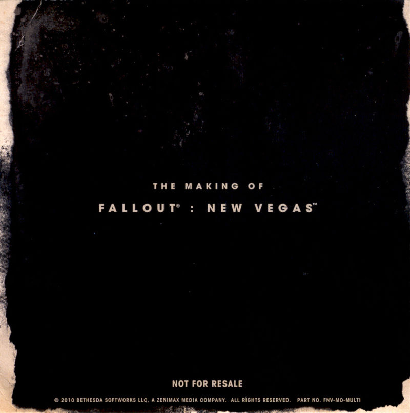 Fallout: New Vegas (Collector's Edition) Windows Other Making of Fallout: New Vegas - Sleeve - Back