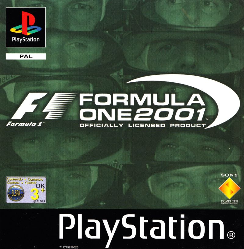 Formula One 2001 PlayStation Front Cover