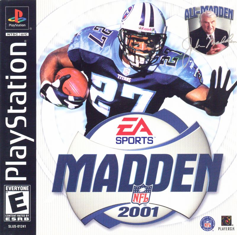 Madden NFL 2001 PlayStation Front Cover