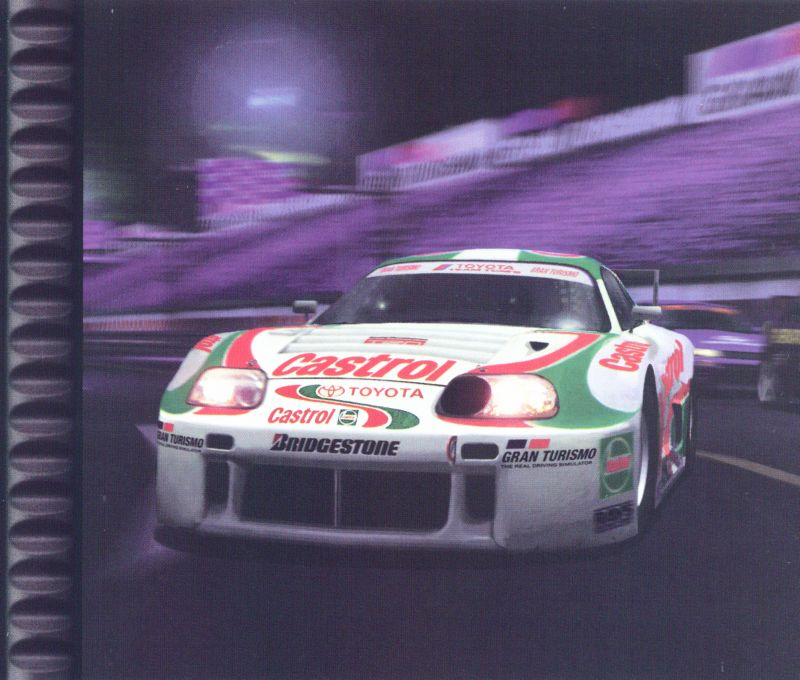 Gran Turismo PlayStation Inside Cover Right Inlay