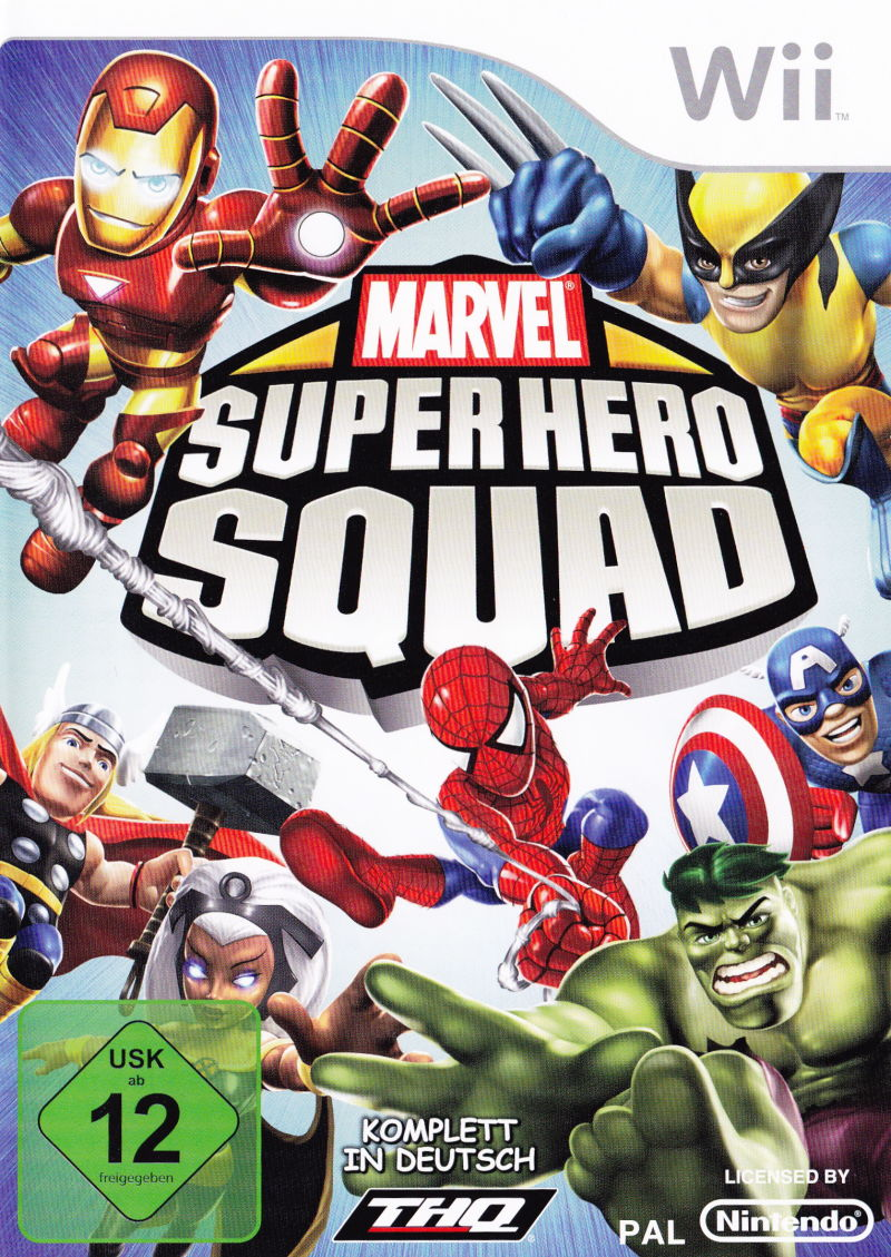 Marvel Super Hero Squad Wii Front Cover