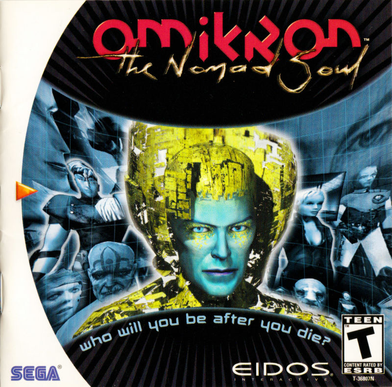 Omikron: The Nomad Soul Dreamcast Front Cover