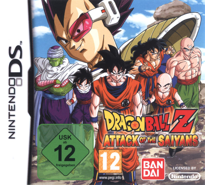 Dragon Ball Z: Attack of the Saiyans Nintendo DS Front Cover