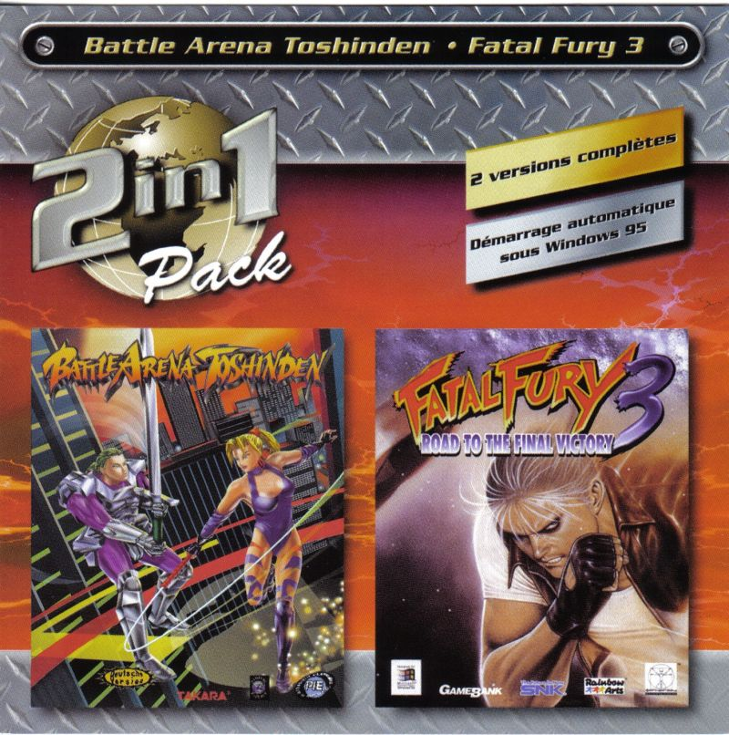 2in1 Pack: Battle Arena Toshinden - Fatal Fury 3 Windows Front Cover