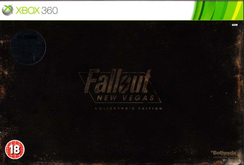 Fallout: New Vegas (Collector's Edition) Xbox 360 Front Cover with sleeve