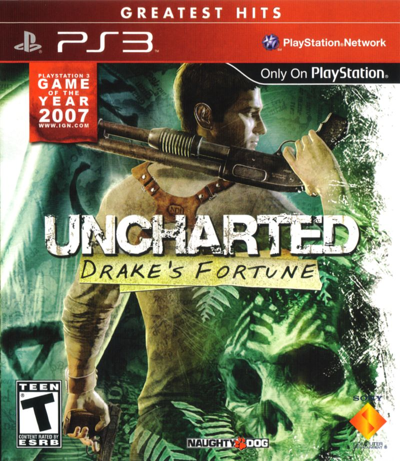 Uncharted: Drake's Fortune (2007) PlayStation 3 box cover ...  Uncharted: Drak...