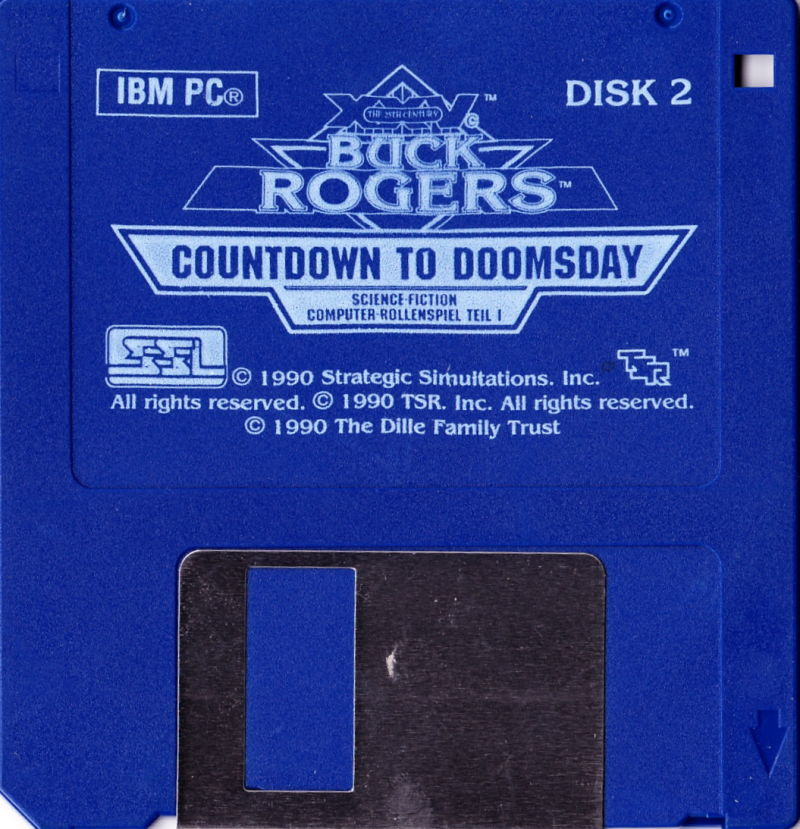 Buck Rogers: Countdown to Doomsday DOS Media Disk 2/2