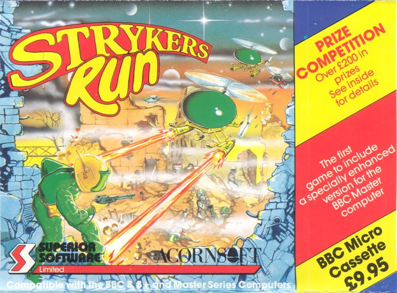 Strykers Run BBC Micro Front Cover