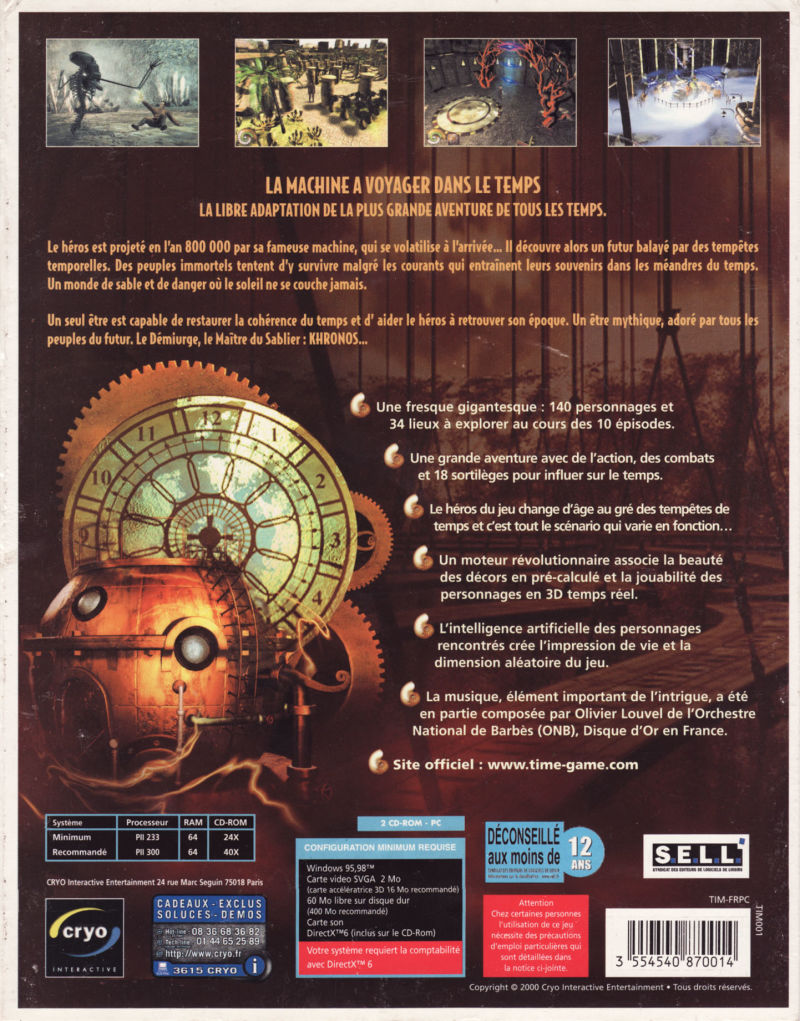 The New Adventures of the Time Machine Windows Back Cover