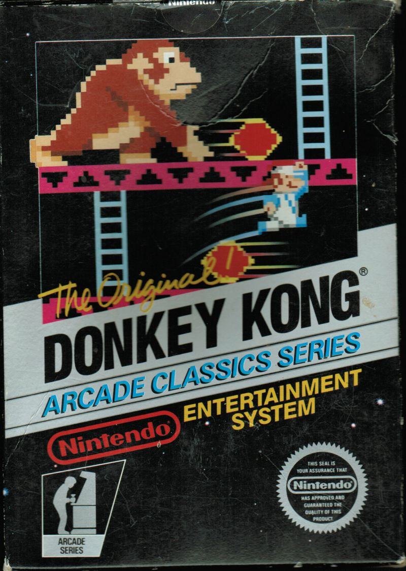 Donkey Kong NES Front Cover