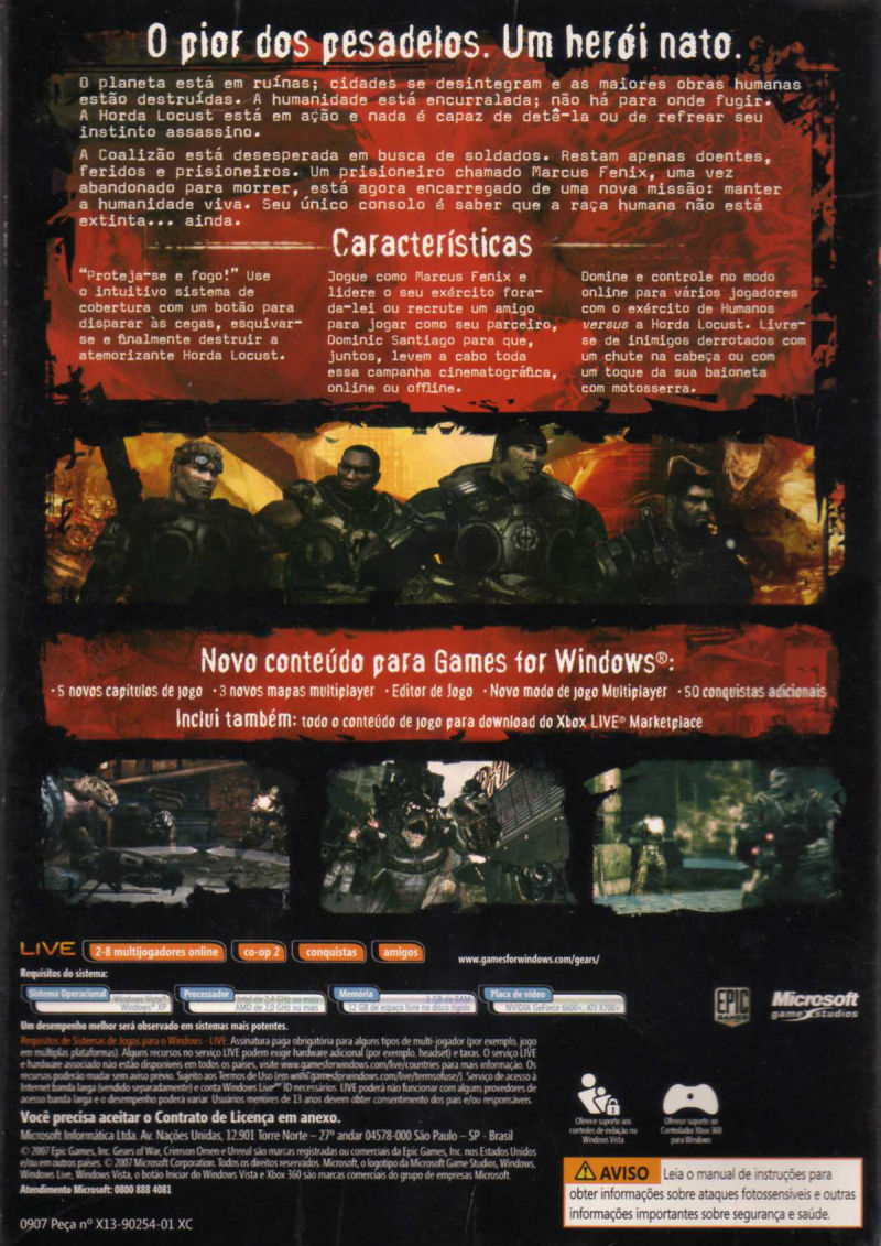 Gears of War Windows Back Cover