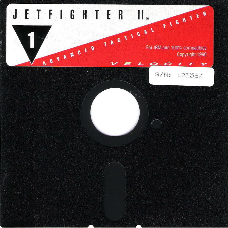 """JetFighter II: Advanced Tactical Fighter DOS Media 5.25"""" disk"""