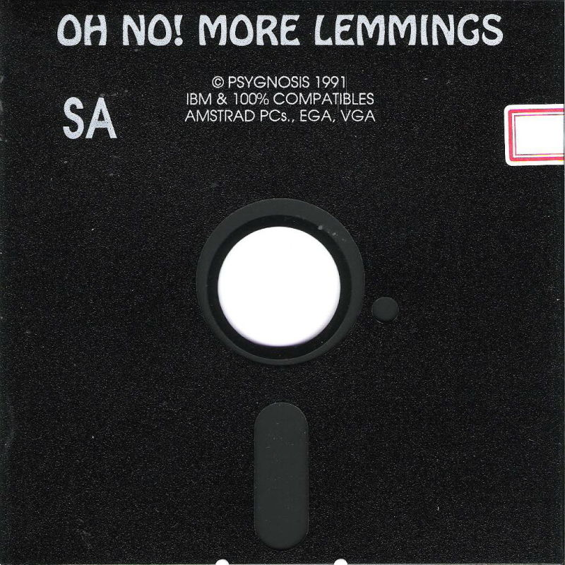 "Oh No! More Lemmings DOS Media 5.25"" Disk 1/2"