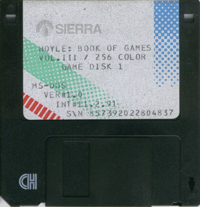 Hoyle Official Book of Games: Volume 3 DOS Media 256 colors 3.5 Floppy Disk 1 of 2