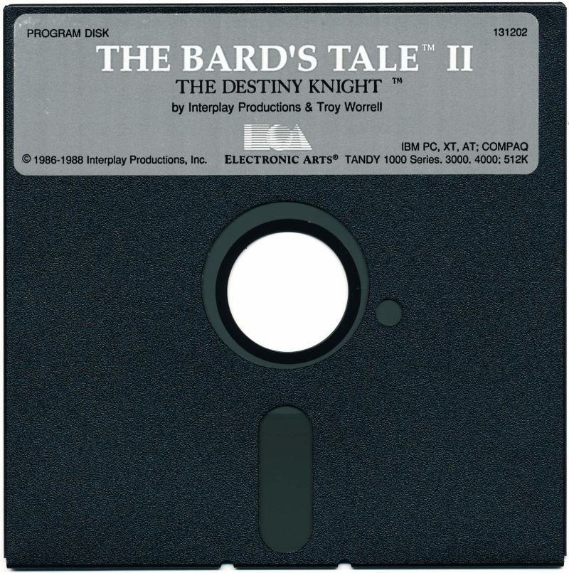The Bard's Tale II: The Destiny Knight DOS Media Disk 1 of  2