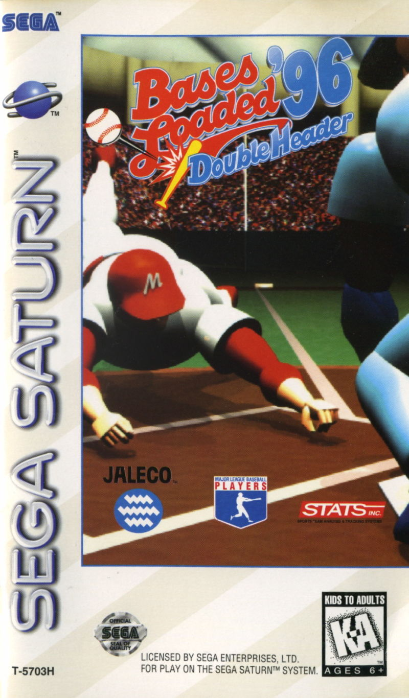 Bases Loaded '96: Double Header SEGA Saturn Front Cover