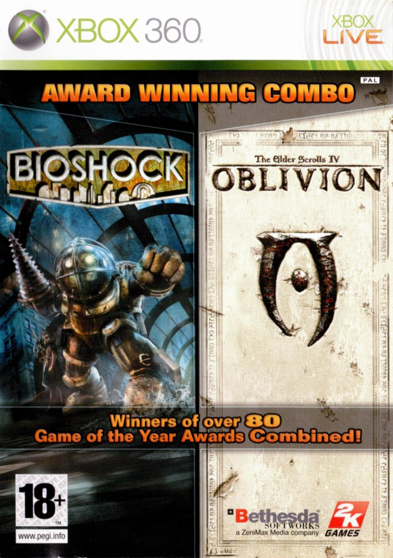 BioShock & The Elder Scrolls IV: Oblivion Bundle Xbox 360 Front Cover