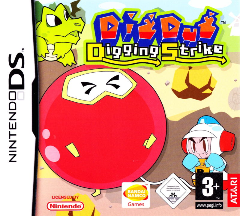 Dig Dug: Digging Strike Nintendo DS Front Cover