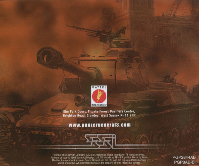 Panzer General III: Scorched Earth Windows Other Jewel Case Back