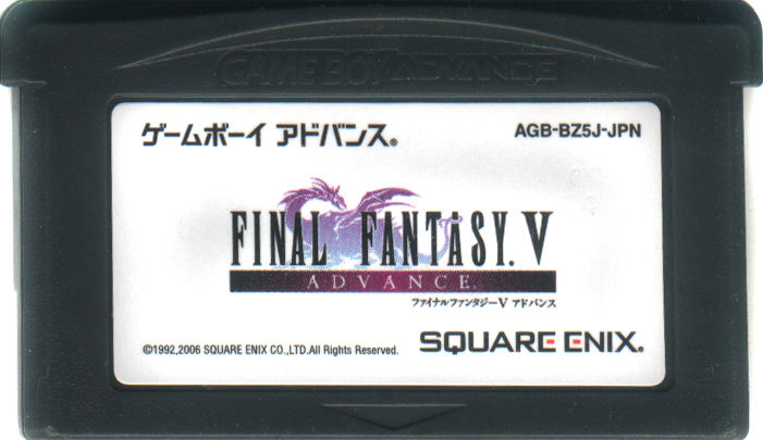 Final Fantasy V Advance Game Boy Advance Media