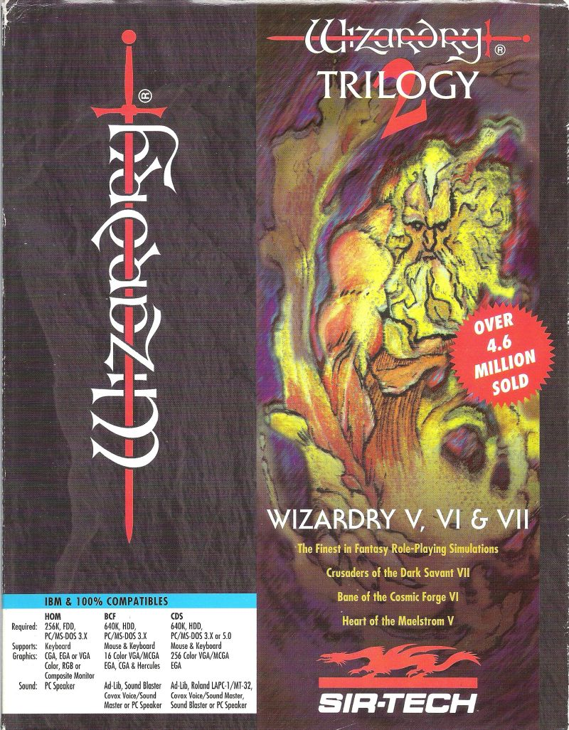 Wizardry Trilogy 2 DOS Front Cover