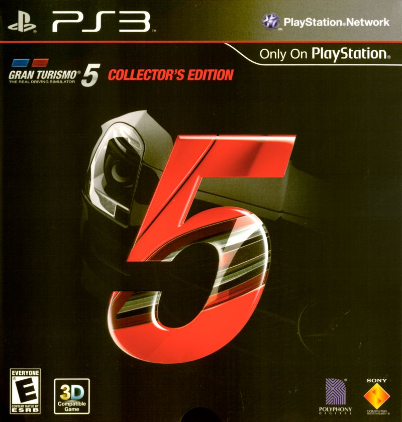 Gran Turismo 5 (Collector's Edition) PlayStation 3 Front Cover