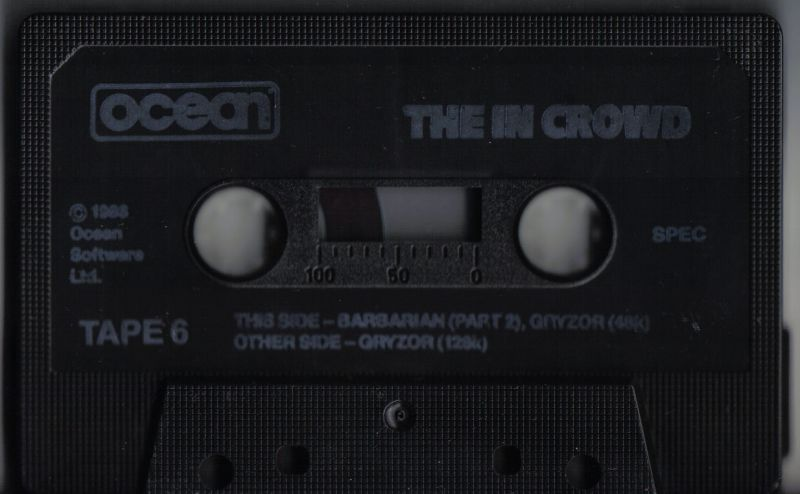 The In Crowd ZX Spectrum Media Tape 6/6 - Barbarian (part 2) and Gryzor
