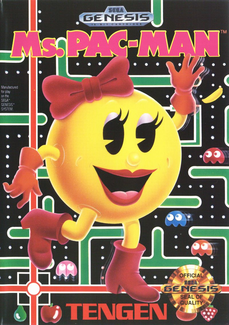 Ms. Pac-Man Genesis Front Cover