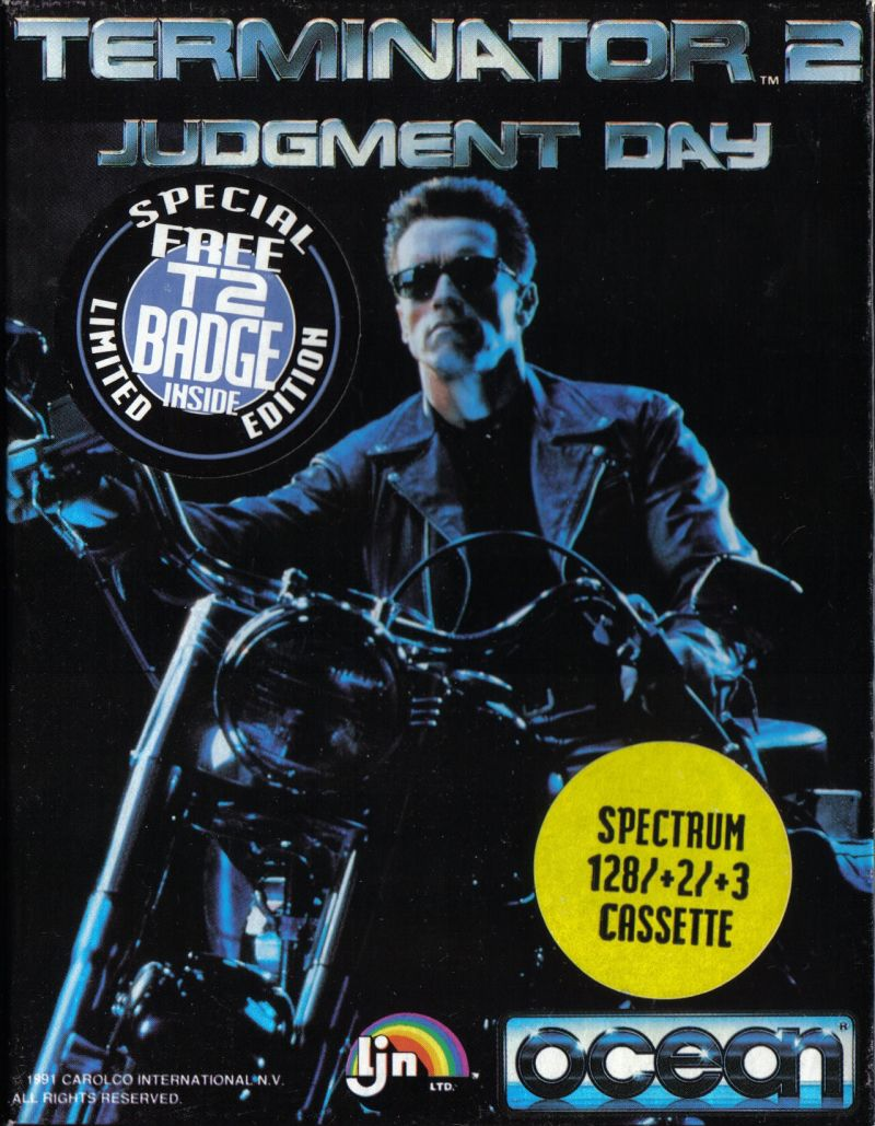 Terminator 2: Judgment Day ZX Spectrum Front Cover
